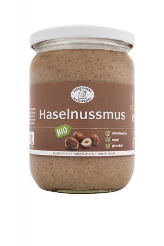 Bio Haselnussmus - 500g im Glas