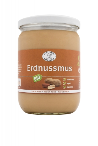 Bio Erdnussmus - 500g im Glas