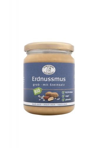 Bio Erdnussmus grob mit Steinsalz - 250g im Glas