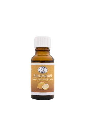 Bio Zitronenöl Koch- und Backzutat - 20ml im Fläschchen Backzutat,