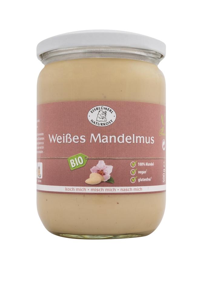 Bio Weißes Mandelmus - 500g im Glas