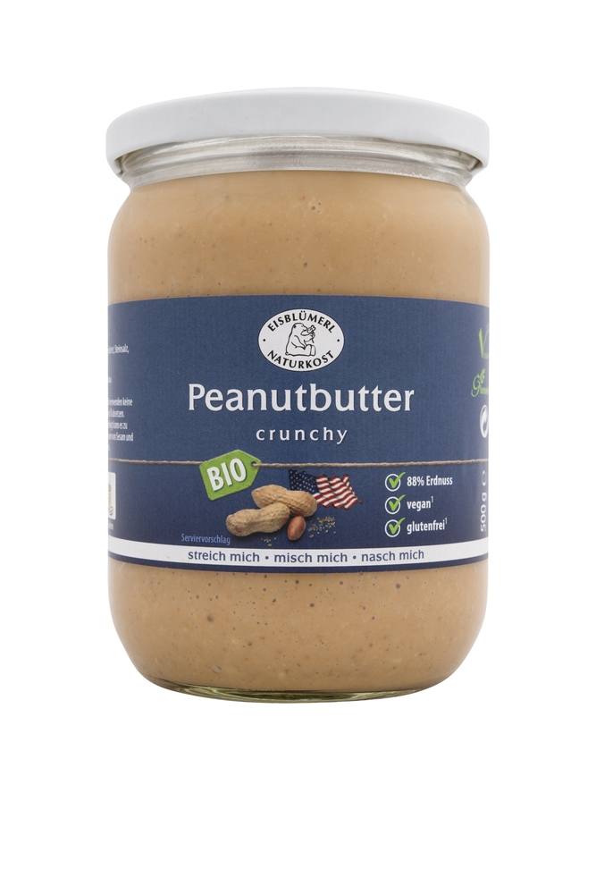 Bio Peanutbutter Crunchy - 500g im Glas