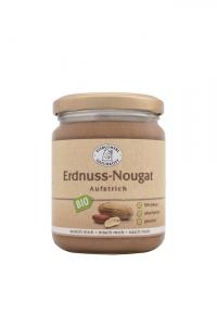 Bio Nougat Aufstrich Erdnuss - 250g im Glas Erdnusscreme,