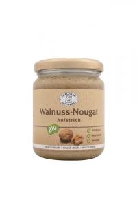 Bio Nougat Aufstrich Walnuss - 250g im Glas Walnusscreme,