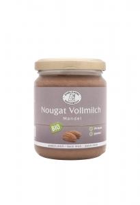 Bio Mandel-Nougat Vollmilch - 250g im Glas